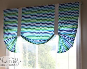 Custom Baby Crib Bedding- Design Your Own- Fan Fold Window Valance