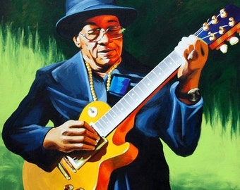 Blues Music Painting Hubert Sumlin Blues Art