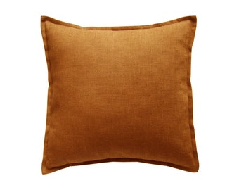 Linen pillow cover Rust by Lovely Home Idea