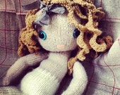 Pixie Moon - new knitted doll pattern FLAT version