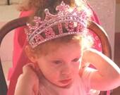Personalized Princess  Birthday Tiara-  Birthday tiara, personalized tiara, princess tiara,baby tiara, princess crown, baby hair accessories
