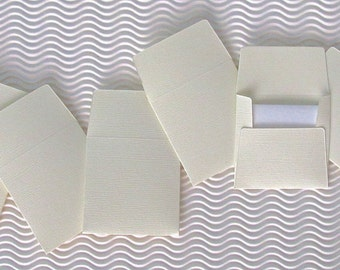 36+ teeny tiny envelope note card sets handmade French Vanilla ivory mini miniature square party favor wedding stationery guest book