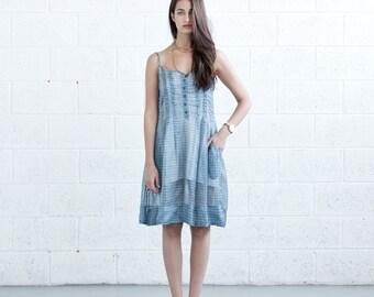 Pleated Sundress - Blue.