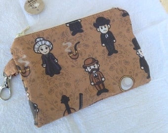 Sherlock Holmes Small Zippered Pouch