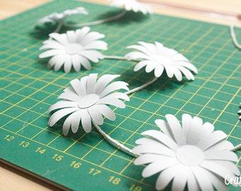 DIY paper daisy template