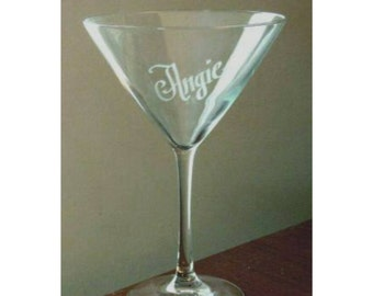Personalized 8 oz. Martini Glass