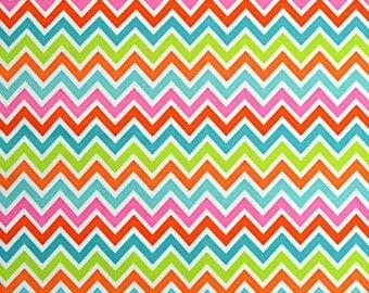 PUL - Multi Color Chevron - Diaper Cut  21 x 24
