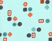 Homebody Button Jar in Aqua, Kim Kight, Cotton+Steel, RJR Fabrics, 100% Cotton Fabric, 3001-001