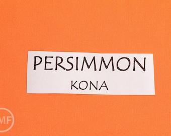 One Yard Persimmon Kona Cotton Solid Fabric from Robert Kaufman, K001-84