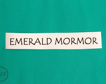 Half Yard Mormor Solid in Emerald, Lotta Jansdotter, Windham Fabrics, 100% Cotton Fabric,  37122-3
