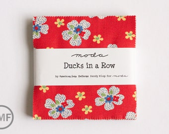 Ducks in a Row Charm Pack, Sandy Klop, American Jane Patterns, Moda Fabrics, Precuts, 21650PP