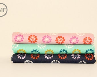 Fat Quarter Bundle Mustang Daisies, 3 Pieces, Melody Miller, Cotton+Steel, RJR Fabrics, 100% Cotton Fabric, 0007