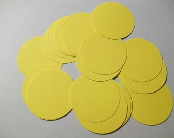 25 Yellow Die Cut Circles 2 inches