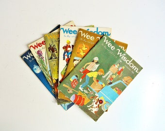 Mid-Century Wee Wisdom Magazines - Collection of Six