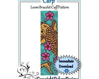 Bead Pattern Loom(Bracelet Cuff)-Carp