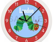 Hungry Caterpillar Nursery PERSONALIZED Wall Clock