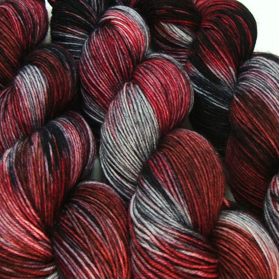 HELM'S DEEP Lord of the Rings fingering sock yarn hand dyed sw merino wool nylon