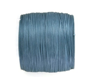 Blue Polyester Cord, Ocean Blue Polyester Thread, Waxed Cord, Macrame Cord  (0.8mm) 10m - 11yards S 40 009