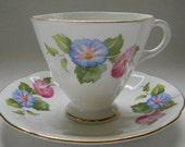 RESERVED - TEACUP, Vintage Clarence, Bone China Teacup