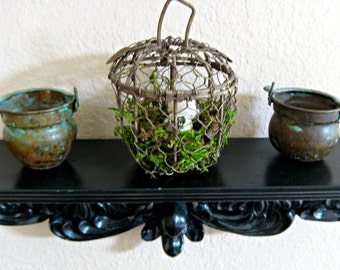 Woodland Home Decor Natural Moss and Quail Eggs Rustic Table Decor