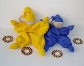 Waldorf doll for babies, Teething Doll, cloth doll, teething doll, cuddle doll , Babies first friend, blanket doll from alpaca