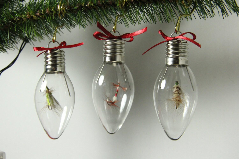 set of three light bulb shaped ornaments. Black Bedroom Furniture Sets. Home Design Ideas