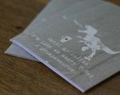 Funny Greeting Card - Coffee Lover - Dinosaur Grumpasaurus - Red Heart Typography Gray