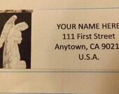 A Praying Angel Statue Return Address Label