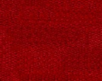 Plain Weave Super Soft Durable Chenille for Upholstery - Contemporary to Traditional Solid Upholstery Fabric - Color- Scarlet - per yard