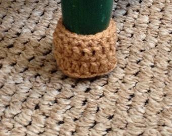 Ready to ship - Light Brown Chair socks - chair leg cozy - Set of 4 - household