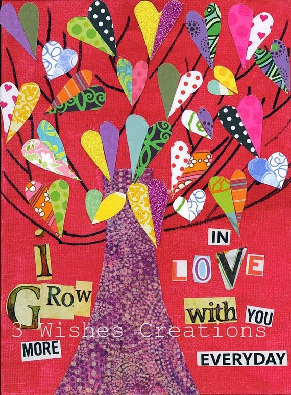 Heart Tree Grow More in Love (8 x 10)  print