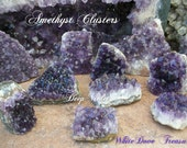"SALE AMETHYST CLUSTER Choice 3-8"" Dark Violet Alchemy Dreams Intuition Psychic Divine Light Therapy Altar Transform Meditate Reiki Feng Shui"