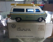 Vintage Bell System Toy Van Bank