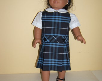 18 inch Doll School Jumper Plaid 3D