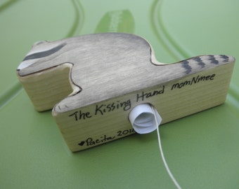 MESSAGE in the KISSING HAND  Wood Toy  Set