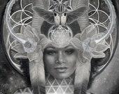 Egyptian Goddess Nephthys art print