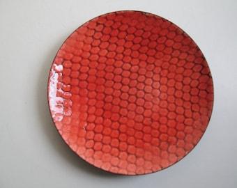 Enamel dish. Modernist. Mod,Vintage 1960. Mid century, Danish Modern, Eames era.