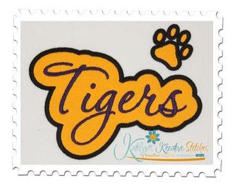 Tigers Applique Script