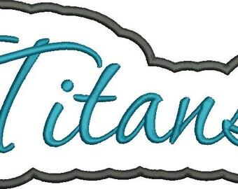 Titans Applique Script