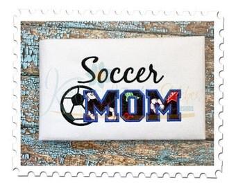 Soccer MOM 5 Applique