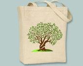 Olive Tree image on Canvas Tote- Selection of sizes available