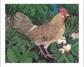 Kauai Hen, Small Giclee Print