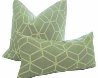 Geometric Pillow - Grey Pillow - Linen Pillow Cover - Decorative Pillow - Cushion Cover - Lumbar Pillow - Geometric - PILLOW COVER ONLY