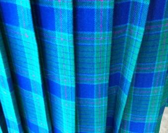 beautiful pleated pendleton wool skirt