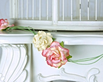 Roses Garland, Bridal or Baby Shower and Wedding, Table decoration