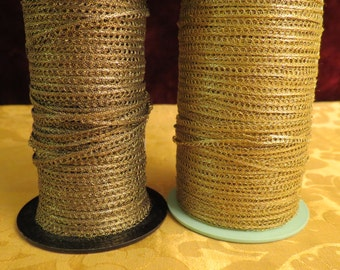 10 Yards Vintage French Metallic Gold  Thread