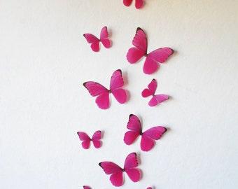 3D Hot Pink Morphos- Set of 10