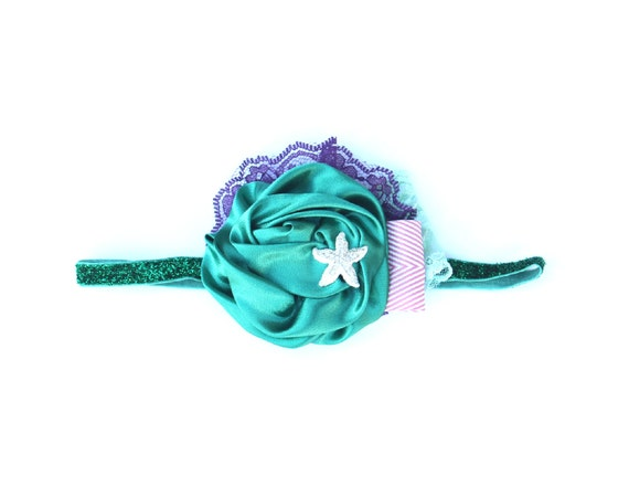 2014 Disney Collection - Little Mermaid/ ARIEL Can Can Headband- Disneyland Disney, Princess Spring, Summer, Newborn, Photo prop