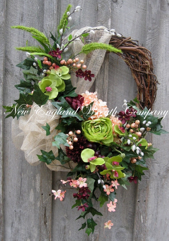 Spring Wreath Easter Wreath Victorian Wreath Tuscany