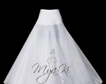Bridal Prom A-Line Petticoat 1 hoop underskirt Slip skirt WHITE
